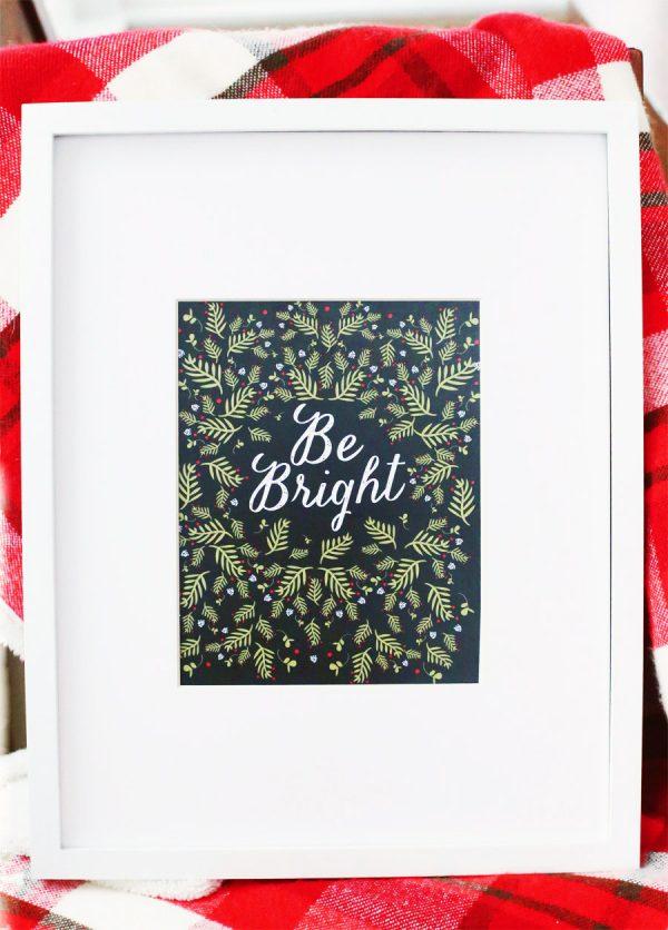 Printable Christmas Art Print from @cydconverse
