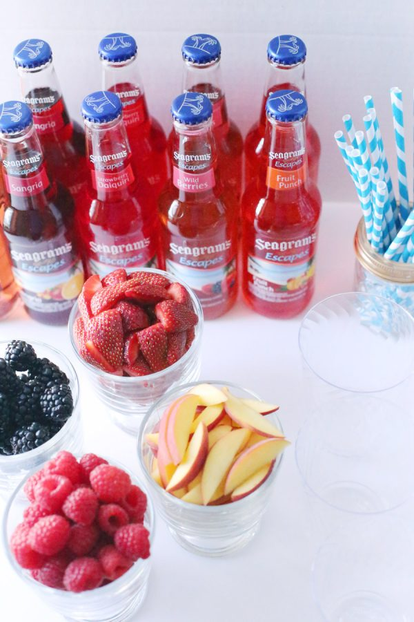 An Easy New Year's Cocktail Station by @cydconverse