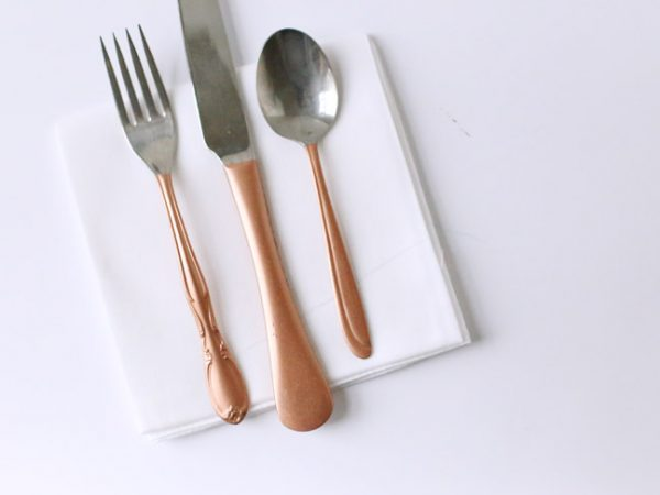 DIY Copper Gilded Flatware by @cydconverse