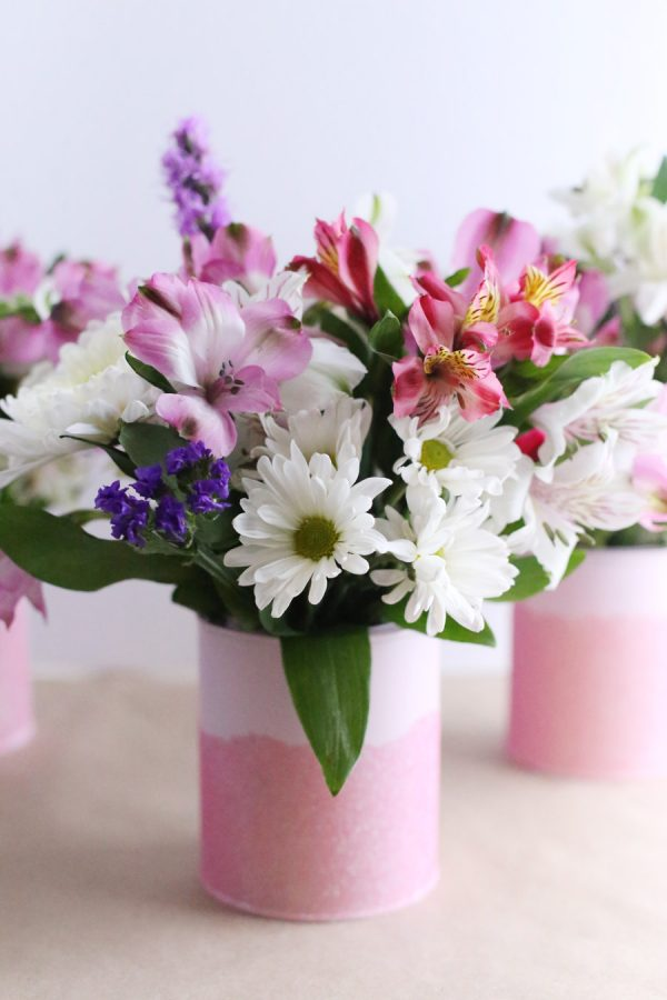 Diy Mini Paint Can Glitter Vases The Sweetest Occasion