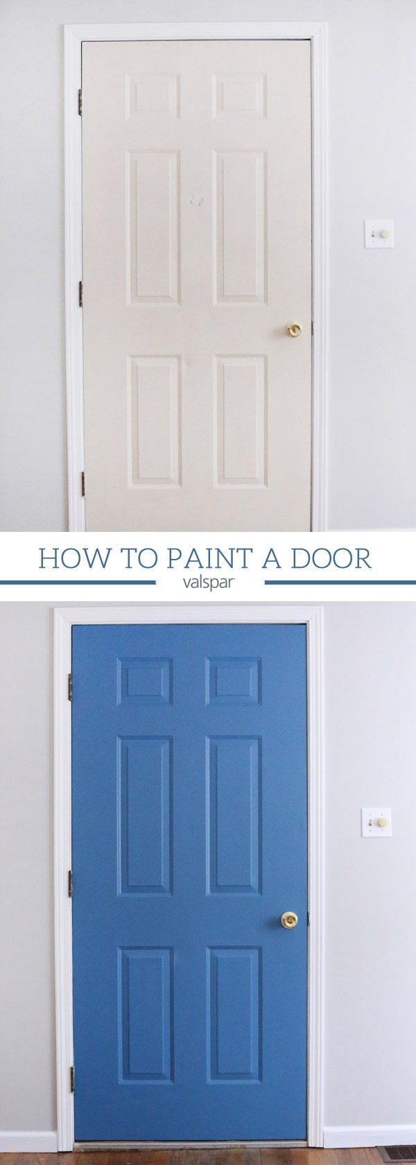 How To Paint A Door 31 Days Of Color With Valspar Ace