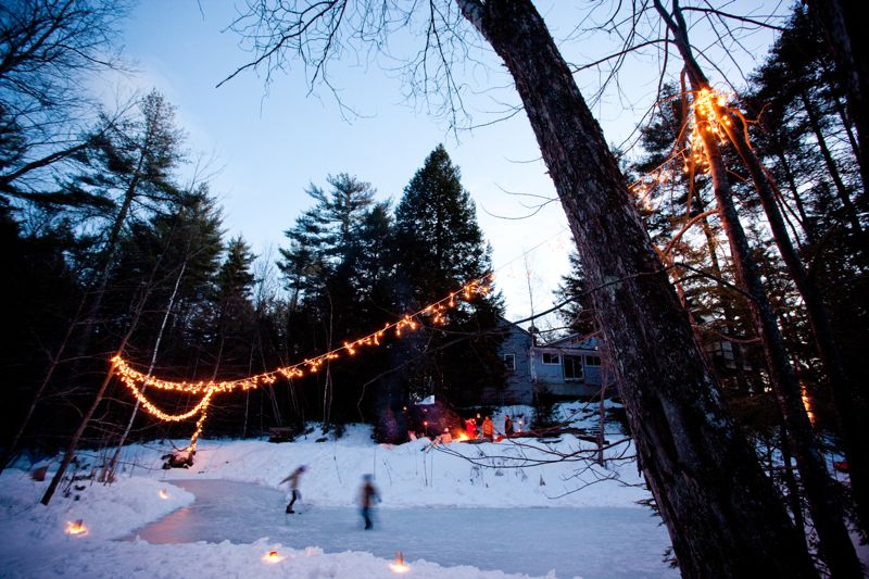 Backyard Rink Lighting : Event design + planning by Beautiful Days  Photos by Geneve Hoffman