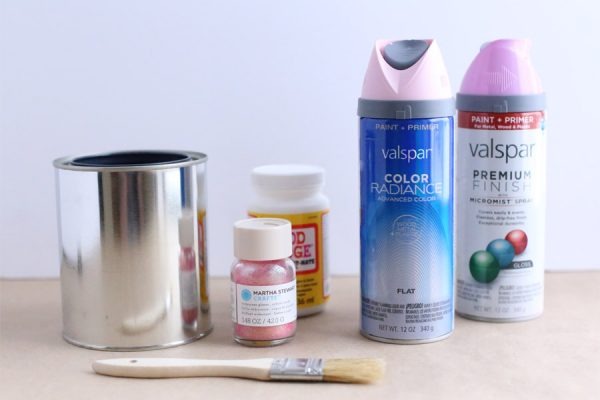 DIY Mini Paint Can Glitter Vases by @cydconverse