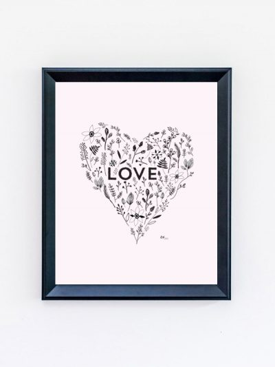 Free Printable Love Valentine's Day Art Print thumbnail