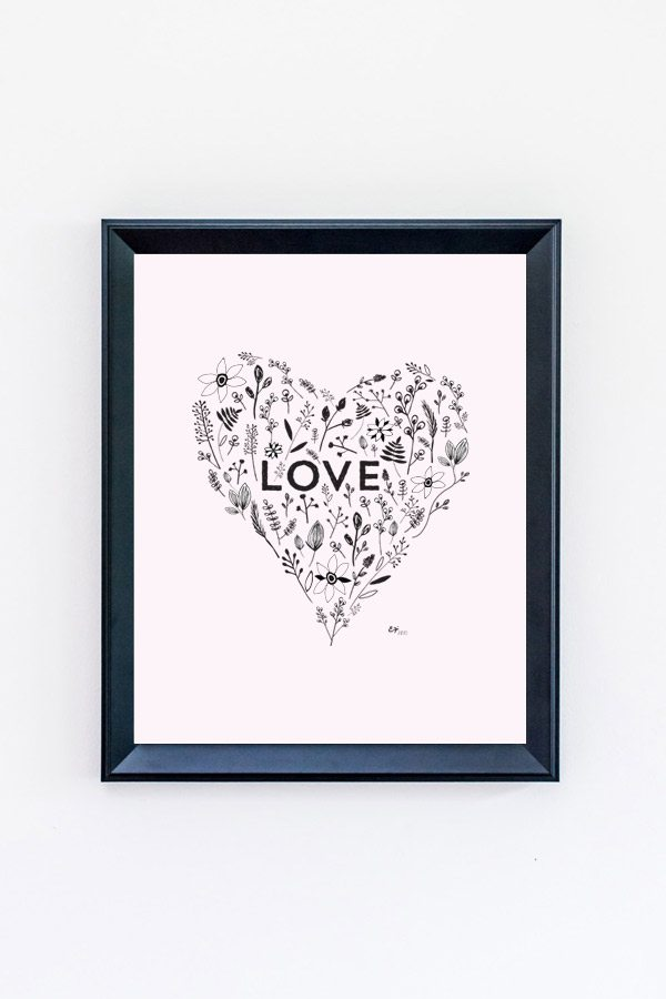 FREE Printable Love Art Print from @cydconverse and @erikafirm