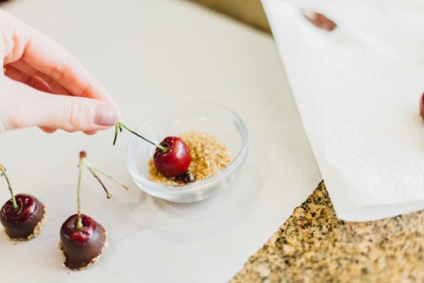 Chocolate Covered Vodka Cherries from @cydconverse