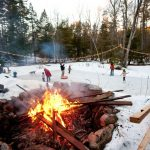 A Backyard Winter Skating Party