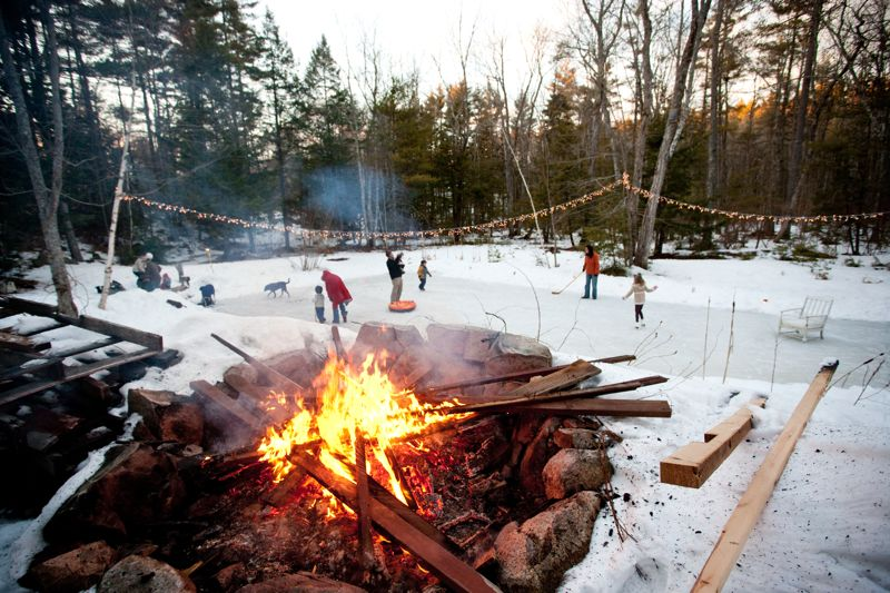 A Backyard Winter Skating Party from @cydconverse