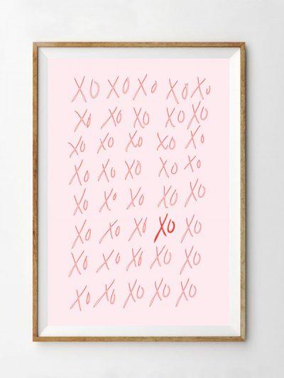 Free Printable XO Valentine's Day Art Print thumbnail