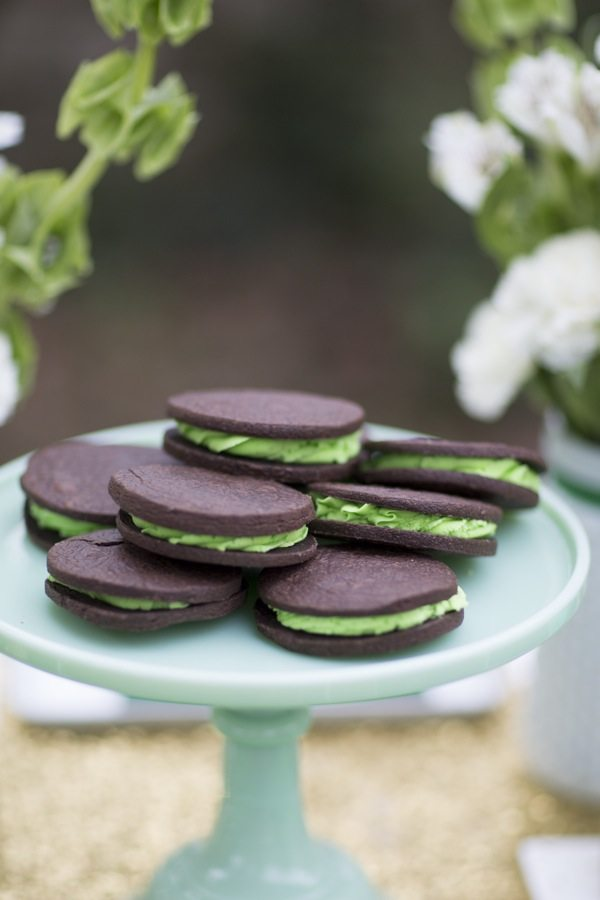 St. Patrick's Day Chocolate Mint Cookies from @cydconverse