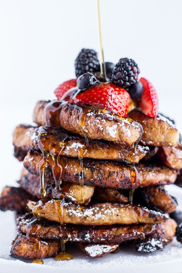 Coffee Caramelized Croissant French Toast Sticks