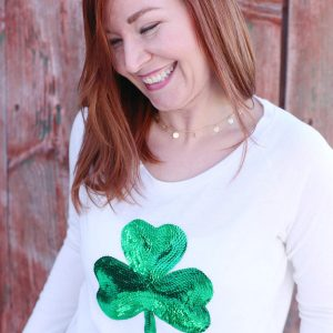 DIY Sequin Shamrock Shirt thumbnail