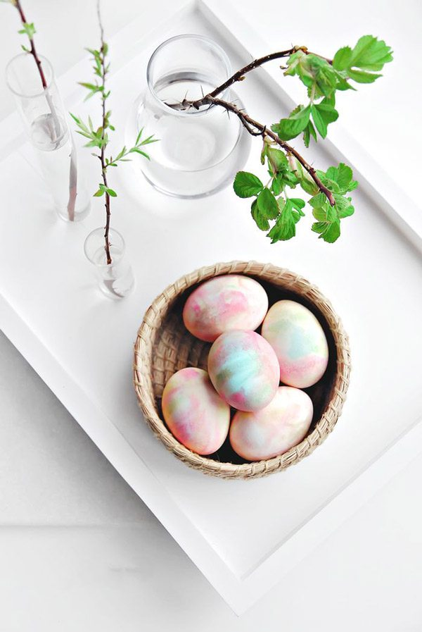 DIY Watercolor Eggs