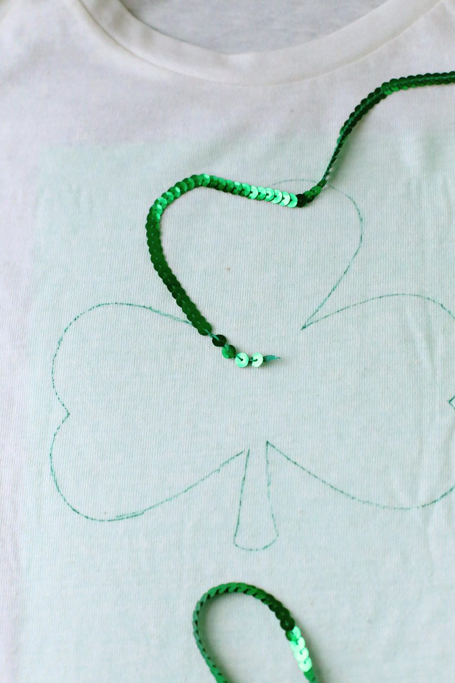 diy sequin shamrock shirt the sweetest occasion
