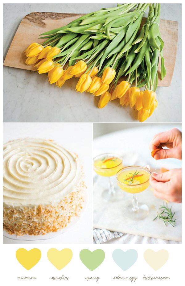 Color Palette: Mimosa and Buttercream from @cydconverse