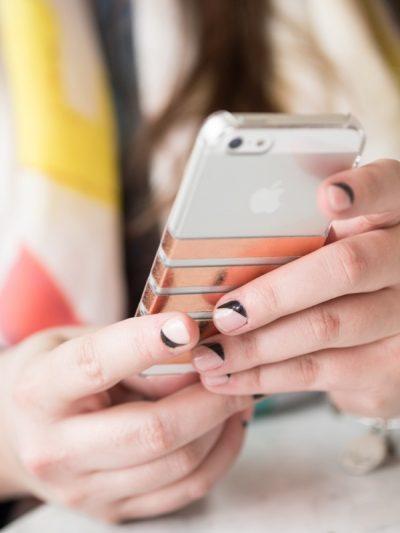 DIY Foil Striped iPhone Case thumbnail