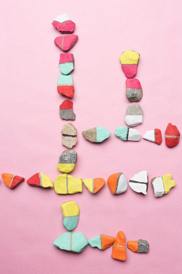 DIY Color Rock Dominoes
