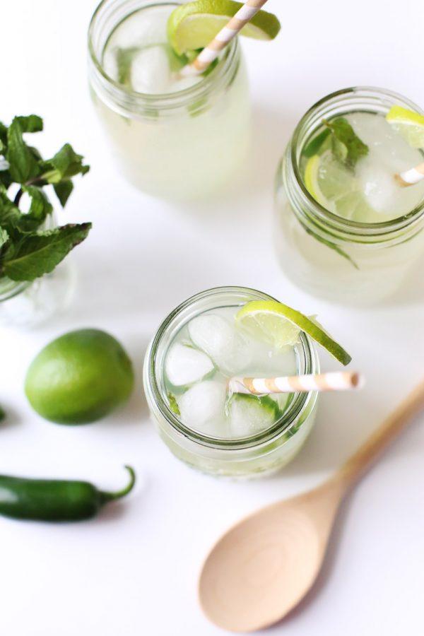 Mint Jalapeño Margarita by @cydconverse