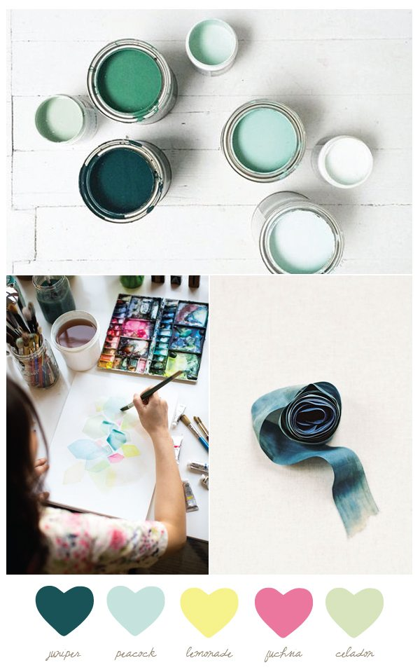Color Palette: Juniper and Lemonade from @cydconverse