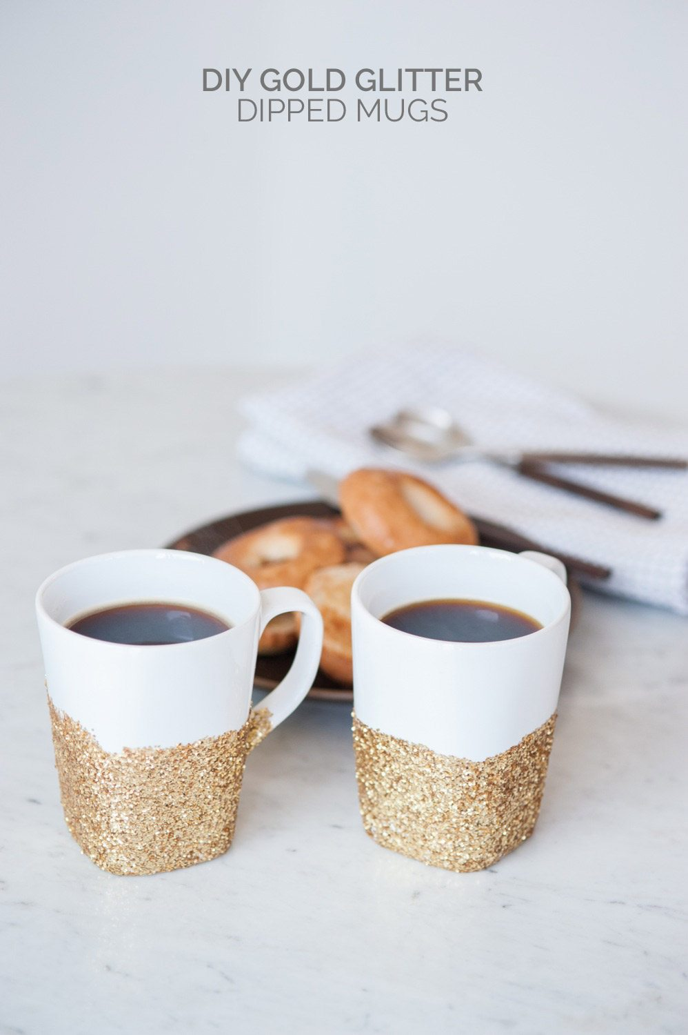 Diy Gold Glitter Dipped Mugs The Sweetest Occasion