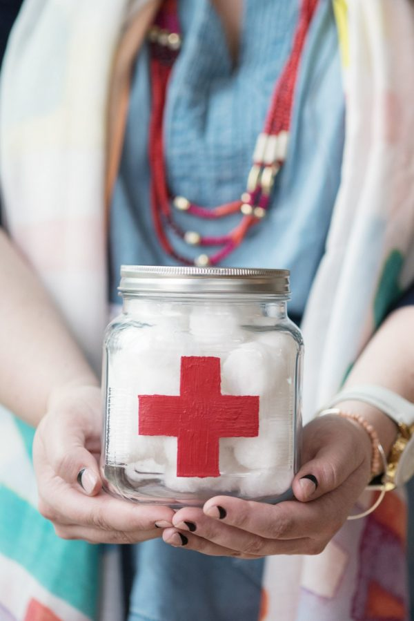 DIY First Aid Apothecary Jar from @cydconverse
