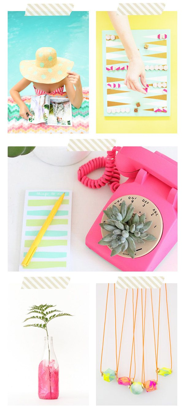 5 Bright and Summery DIY Ideas via @cydconverse