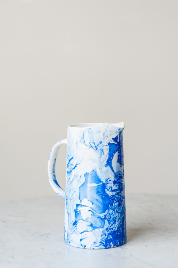 DIY Marble Pitcher by @cydconverse