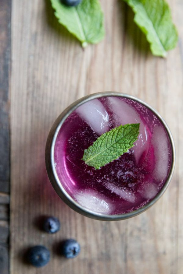 Blueberry Mint Cocktail