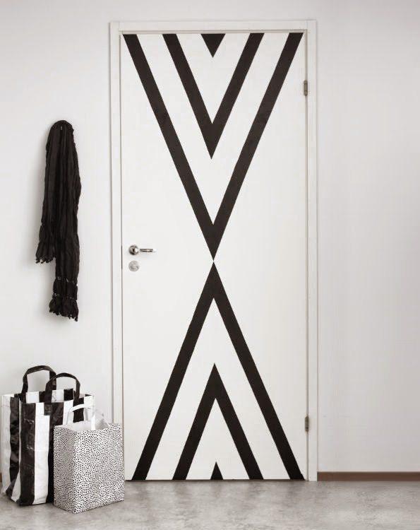 DIY Washi Tape Door via @cydconverse