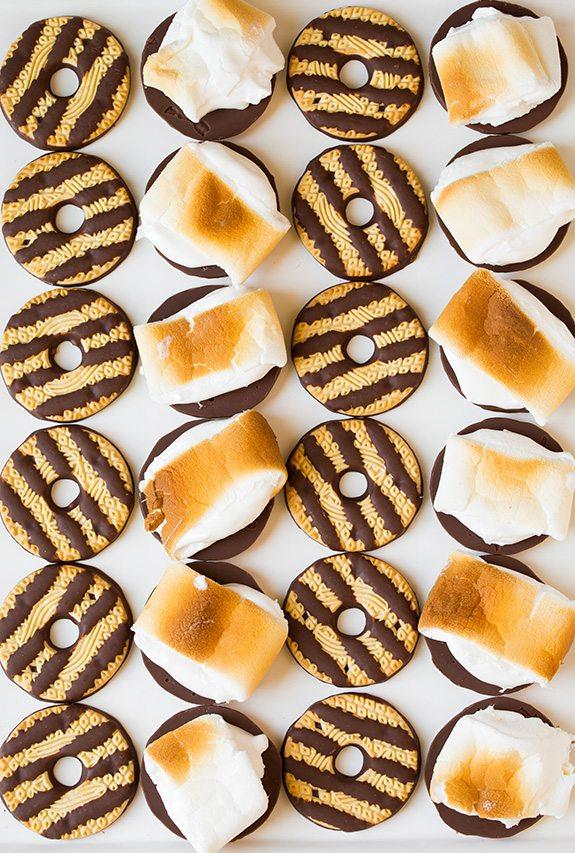 Fudge Stripe Cookie S'mores