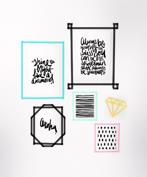5 ways to use washi tape at home the sweetest occasion for Ways to frame pictures
