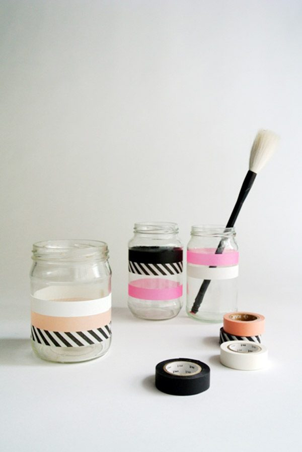 DIY Washi Tape Jars from @cydconverse