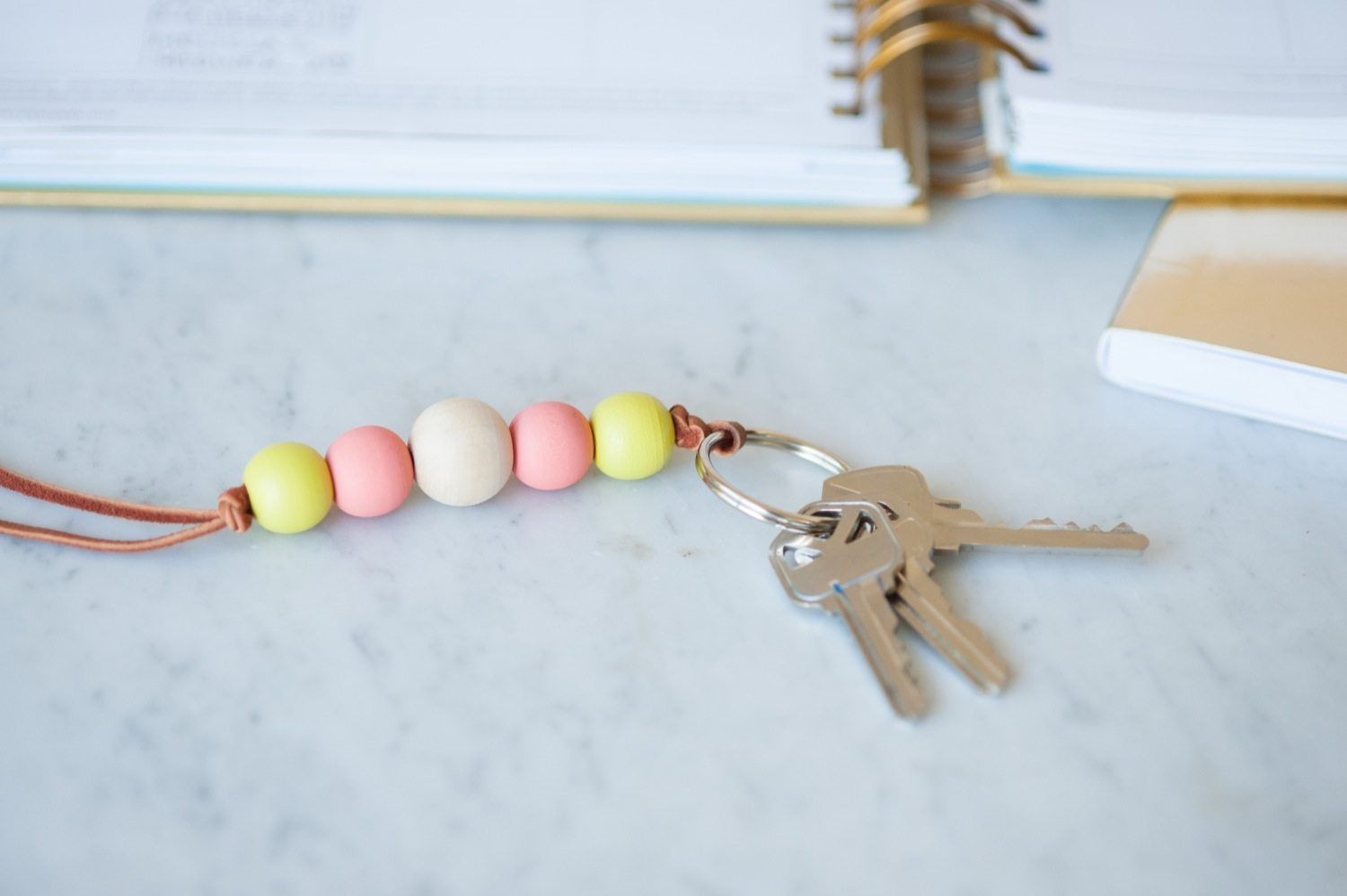 DIY Wooden Bead Keychain - The Sweetest Occasion