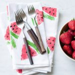 DIY Watermelon Print Napkins