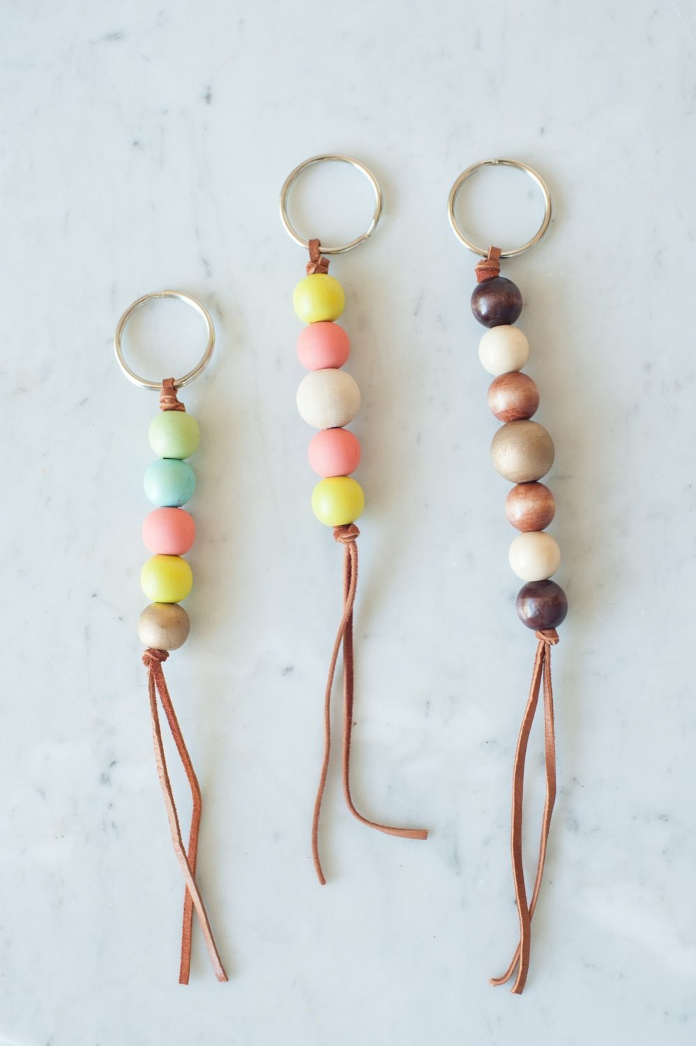 keyring craft ideas diy wooden bead keychain the sweetest occasion 2268