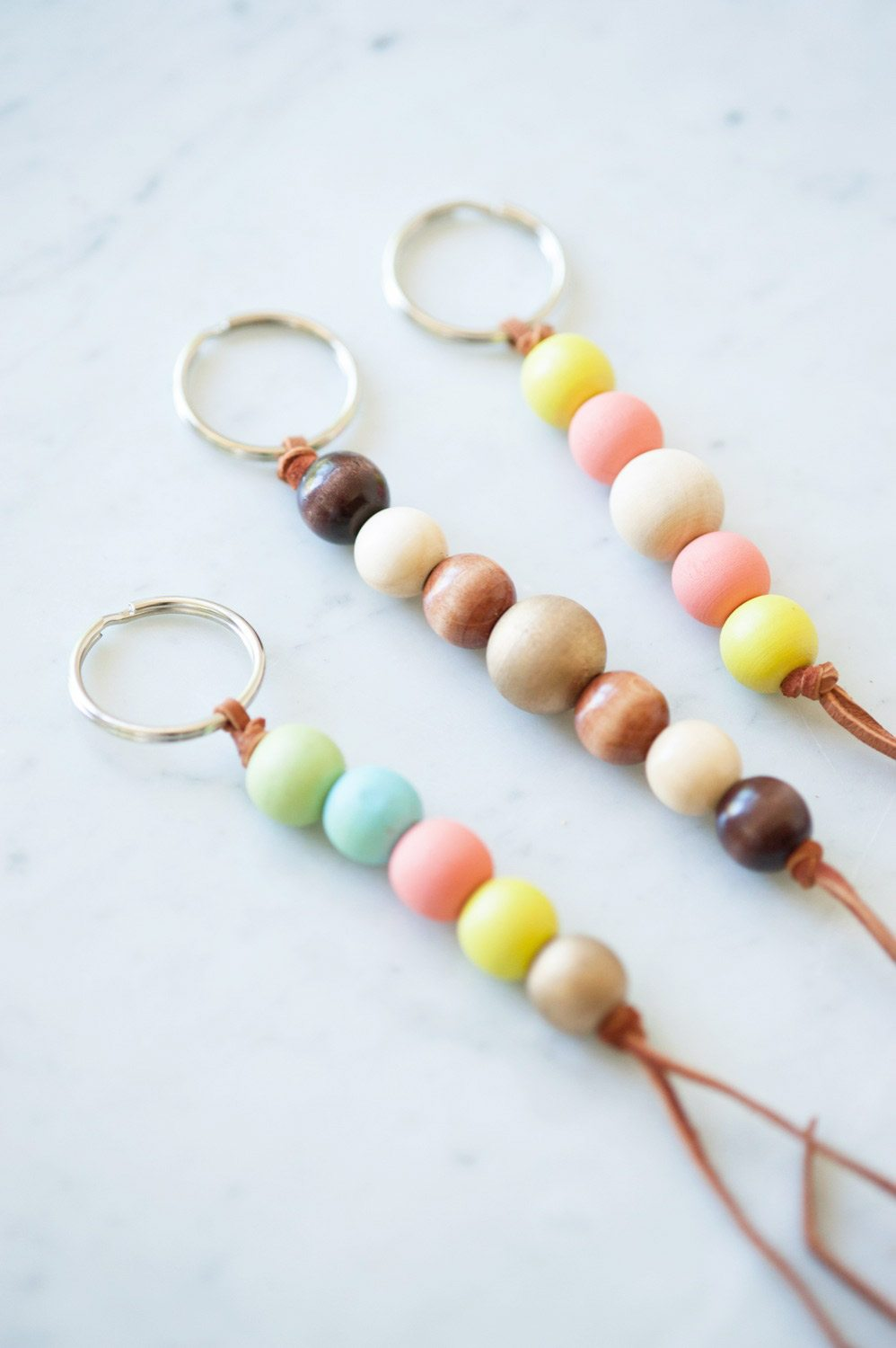 Diy wooden bead keychain the sweetest occasion for How to make online art