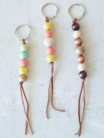 DIY Wooden Bead Keychain thumbnail