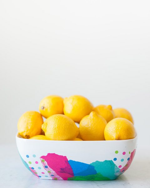 DIY Abstract Fruit Bowl by @cydconverse