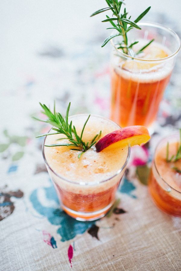 Peach Rosemary Summer Fizz