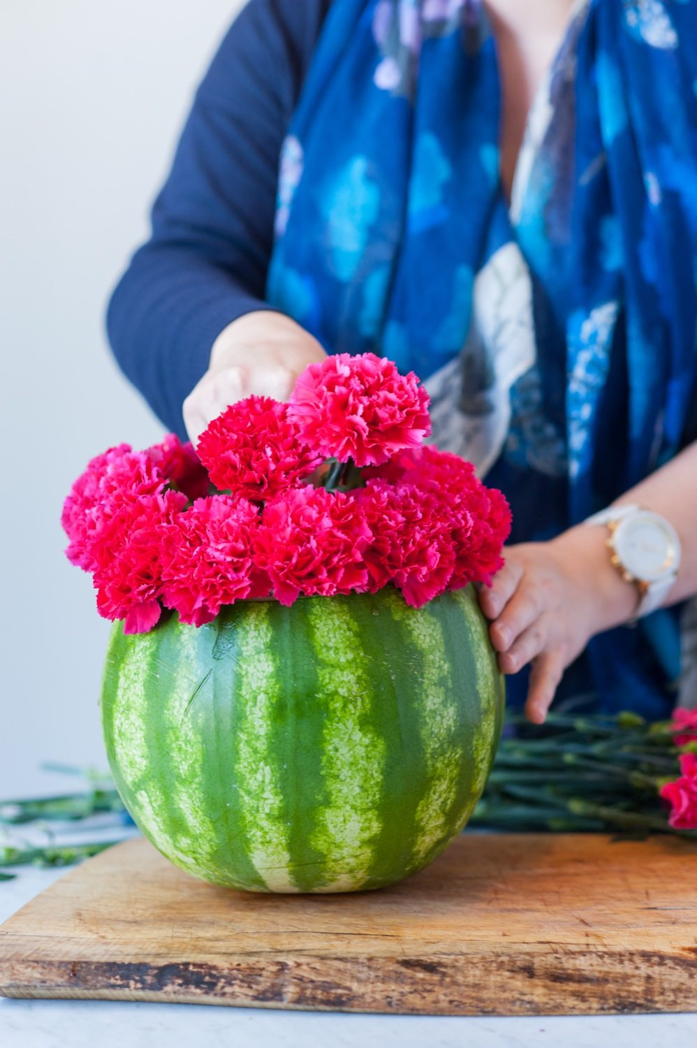 Diy watermelon flower centerpiece the sweetest occasion diy watermelon flower centerpiece by cydconverse reviewsmspy