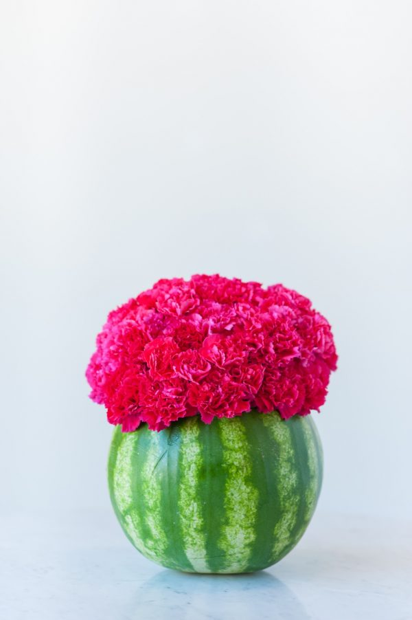 DIY Watermelon Flower Centerpiece by @cydconverse