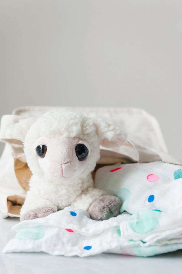 DIY Polka Dot Swaddle Blanket by @cydconverse