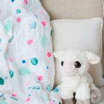 DIY Polka Dot Swaddle Blanket