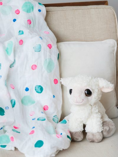 DIY Polka Dot Swaddle Blanket thumbnail