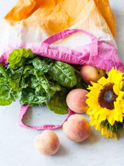 DIY Dip Dye Market Tote Bag thumbnail