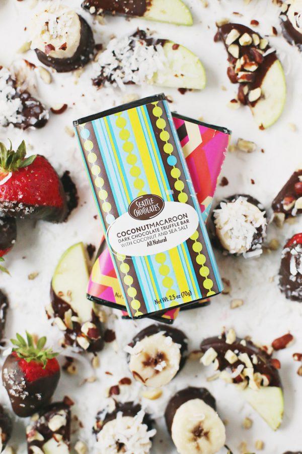 Homemade Chocolate Truffle Fruit Bites by @cydconverse