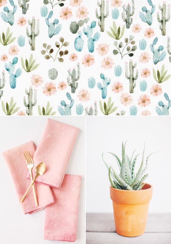 Color Palette: Cactus Flower and Agave by @cydconverse