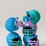 DIY Glitter Football Helmets