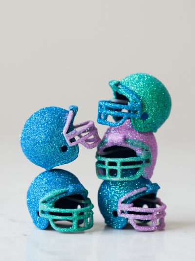 DIY Glitter Football Helmets thumbnail
