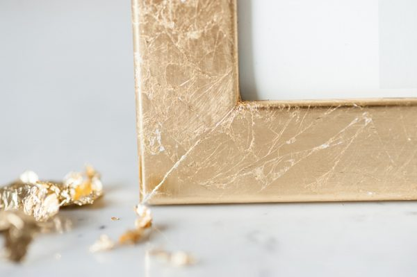 DIY Gold Leaf Frame by @cydconverse